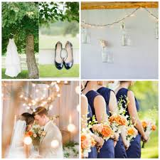peach wedding colors. Wedding Color Inspiration Peach and Navy Rustic Wedding Chic