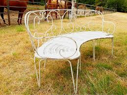 old french garden bench iron workgarden