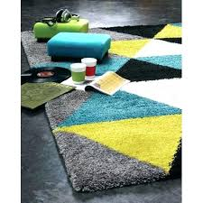 teal and gray rug triangles area lime green black white geometric grey brown 8x10