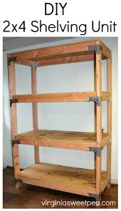 diy 2x4 shelving unit learn how to make this handy storage piece for your home