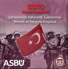 """ASBÜ در توییتر """"Kıbrıs Barış Harekâtı'nın 46. yıl dönümünde, Kuzey Kıbrıs  Türk Cumhuriyeti'nin 20 Temmuz Barış ve Özgürlük Bayramı'nı kutlarız. #KKTC  #BarışveÖzgürlükBayramı… https://t.co/63HILD21Km"""""""