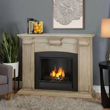 adelaide 51 in ventless gel fireplace in dry brush white