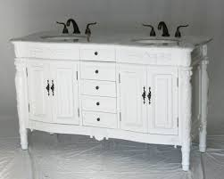60 inch double sink bathroom vanity antique traditional style pure white color 60 wx22 dx36 h s2206w