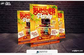 Summer Cookout Flyer Template Cookout Flyer Psd