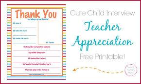 teacher appreciation week thank you letter super cute