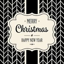 Cute Black And White Christmas Card 10417 Dryicons