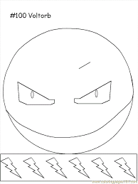 Small Picture Voltorb Coloring Page Free Pokemon Coloring Pages