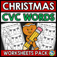 Kindergartners, teachers, and parents who homeschool their kids can print, download, or use the free kindergarten english worksheets online. Christmas Phonics Worksheets Teachers Pay Teachers