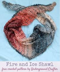Lion Brand Free Crochet Patterns Gorgeous Free Crochet Pattern Fire And Ice Shawl In Lion Brand Shawl In A