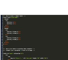 html table single line border code example