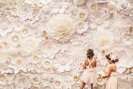 Paper Flower Wall Rental White Paper Flower Wall Paper Flowers