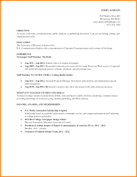 First Job Sample Resume Resumes And Examples For College Students ...