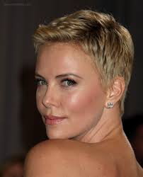 Charlize Theron Short Hair Style Charlize Theron Super Short Pixie Cut For Pale Blonde Hair 1179 by wearticles.com