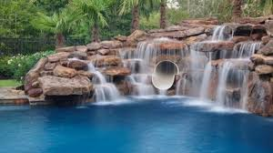 inground pools with rock waterfalls. Beauty Of Artificial Rock Waterfall - How To Create \u0026 Advantages This Inground Pools With Waterfalls