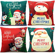 LUDILO Christmas Pillow Covers 18x18 Set of 4 ... - Amazon.com