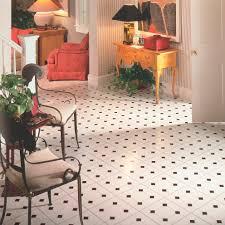 vinyl flooring residential tile high gloss diamond jubilee black white