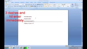 How To Insert Horizontal Line In Microsoft Word?