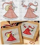 Схема вышивки крестиком открытка