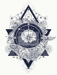 Fototapeta Velryba A Kompas Tetování