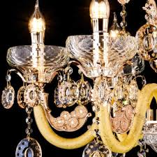 gold color glass and crystal chandelier h60002 6