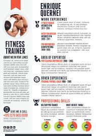 fitness trainer resume templates for cv fitness trainer resume