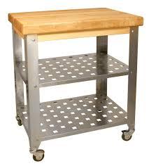 Stainless Steel Butcher Block Kitchen Island   Catskill Craftsmen On Sale  Free Shipping US48