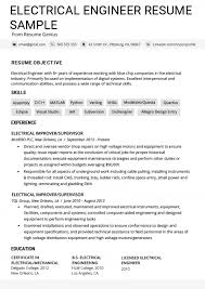 Electrical Engineering Student Resume Examples