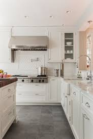 Kitchen With White Cabinets And Slate Flooring In 2019 H O U S E
