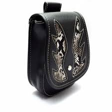 Motorcycle Luggage Rack Bag Inspiration Motorcycle Luggage Rack Bag Waist Bag PU Leather Saddlebag Side Tool