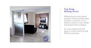 top hung door sliding door