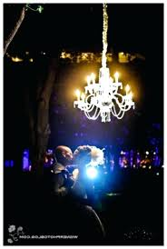 chandelier night light wedding decor up the ideas clear chandelier night light