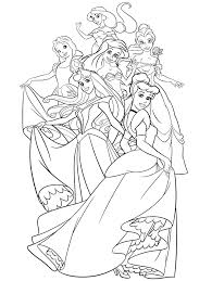 Small Picture The Group Of Disney Princess Coloring Page Jasmine Snow White