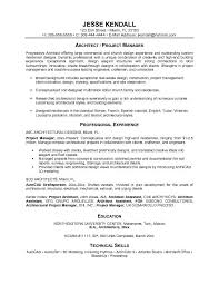 free architectural project manager resume example architecture resume example