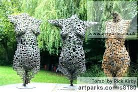 contemporary garden sculptures for modern metal sculpture