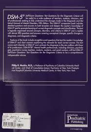 dsm 5 self exam questions test questions for the diagnostic criteria philip r muskin 9781585624676 psychiatry canada