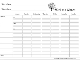 Free Week At A Glance And Daily Planner Printables From Ann