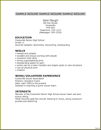 High School Student Resume For College Application Template