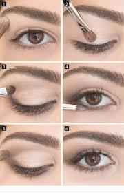 simple eye makeup for brown eyes via