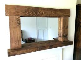 rustic wood framed mirrors. Reclaimed Wood Mirror Rustic Framed Mirrors Large R