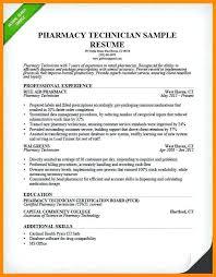 Pharmacist Resume Objective Hospital Pharmacy Technician Resume