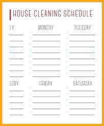monthly house cleaning schedule template weekly cleaning schedule template wphub info
