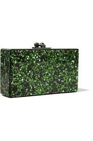 Designer Clutch Bag Outlet Shop On Sale Edie Parker Jean Glittered Acrylic Clutch