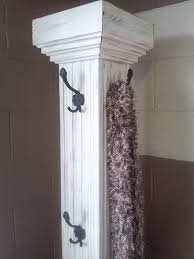 Discount Coat Racks Free Standing Coat Rack from repurposing a column Just Repurposed 92