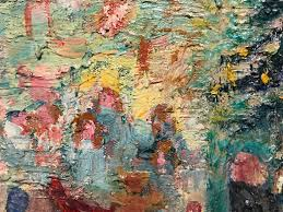 1960 s french impressionist oil painting ping in paris abstract impressionist painting by germaine lacaze