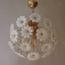 italian murano flower chandelier for