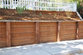 wooden garden retaining wall types of wood retaining wall build wood retaining wall driveway