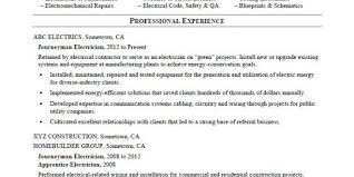Free Resume Templates For Journeyman Electrician Resume