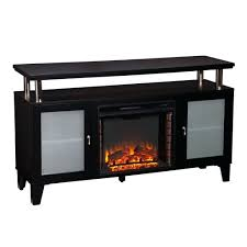 full image for electric fireplace ideas solid black rectangular stand cabinet featuring frosted glass doors fireplaces