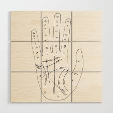 Palmistry Chart Illustration Wood Wall Art By Orionrose