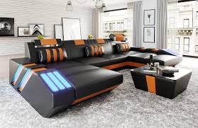 V4 Sofa Couch Sofa Pads Leather V4 Set Design Red Corner